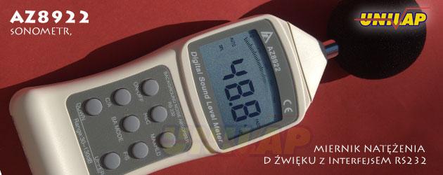 AZ8922 miernik poziomu hałasu, sonometr
