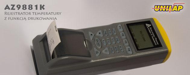 AZ9881 rejestrator temperatury z drukarką