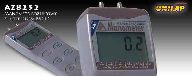 AZ8252 manometr różnicowy, miernik ciśnienia